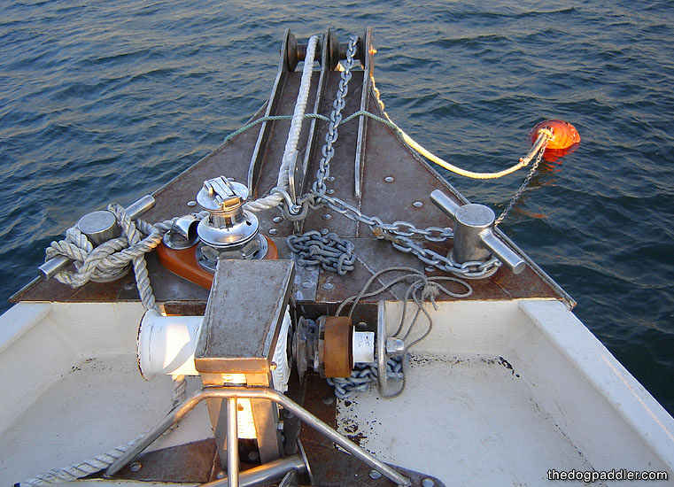 080916 - Repairing the Mooring with New Chain - Newsletter